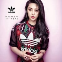 """Adidas"" Women Fashion Casual Multicolor Gauze Short Sleeve T-shirt"