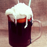 Root Beer Float Old Fashioned Ice Cream Soda Candle 16oz - Realistic Parlor Float Candle