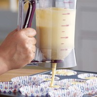 Handy Cake or Pancake Batter Dispenser with Measuring Label Kitchen Gadget ~NEW~