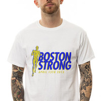 KLP The Boston Strong Stride Tee in White