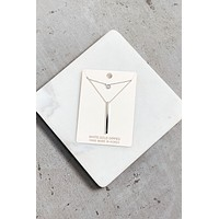 Two-Layer Dainty Necklace - Silver
