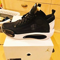 Bunchsun Air Jordan 34 AJ34 Hot Sale Men Women Sport Basketball Shoes Sneakers Black&White