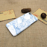 White and blue marble phone case for iphone 5 5s SE 6 6s 6 plus 6s plus + Nice gift box 072601