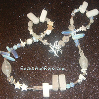Touch of Frost Necklace - Organized Chaos Jewelry Line by Starlene Breiter - Reiki Blessed - The Cosmic Web