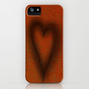 Blow torched love heart iPhone & iPod Case by Bruce Stanfield