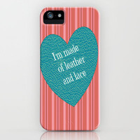 leather and lace iPhone Case by Laura Santeler | Society6