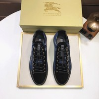 BURBERRY  Man popular Casual Shoes Men popular Boots popularable Casual leather Breathable Sneakers