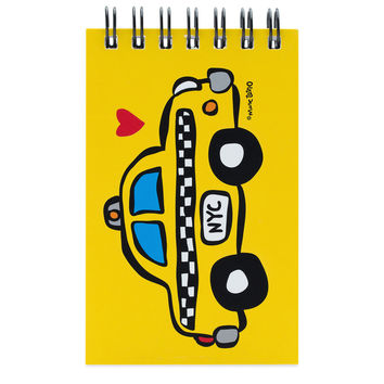 NYC Taxi Spiral Notepad