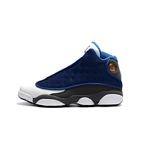 Nike Air Jordan Retro 13 Flint French Blue/University Blue/Flint Grey-White Men Sneakers