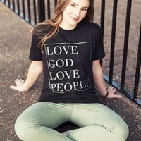 Love God Love People (black) - Longbody
