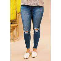 Cannot Be Replaced High Rise Skinny Jeans, Medium Dark