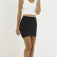 Sophisticated Straight Cut Crop Top - Ivory