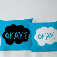 The Fault In Our Star Okay Couples Square Pillow Covers Pillow Case Gift Couples Case