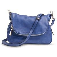 Moda Luxe Solid Messenger Handbag with Removable Crossbody Strap