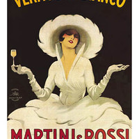 Vermouth Bianco Vintage Ad Poster by Marcello Dudovich