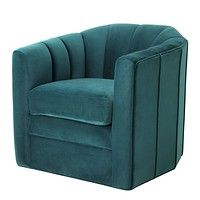 Sea Green Velvet Swivel Chair | Eichholtz Delancey