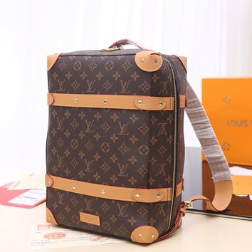Kuyou Gb229925 Louis Vuitton Lv M44752 Monogram Bag Soft Trunk Backpack Pm 36x28x14cm