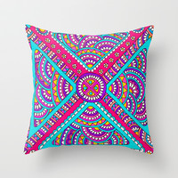 Piece Together Throw Pillow by PeriwinklePeacoat