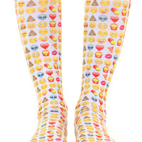 EMOJI FACE KNEE SOCKS