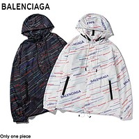 Balenciaga hot seller of colorful slanted hooded trench coats for stylish couples
