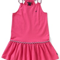 Nautica Little Girls 2T-6X Braided Straps Dropwaist Dress | Dillards