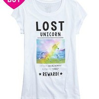 Lost Unicorn Graphic Tee   Girls Tops Clothes   Shop Justice