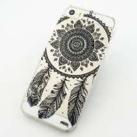 Acefast INC Plastic Case Cover for Iphone 5 5s 5c 6 6plus Black Henna Ojibwe Dreamcatcher Ethnic Tribal (For Iphone 5c)