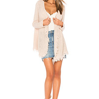 Velvet by Graham & Spencer Floran Crochet Cardigan in Allure | REVOLVE