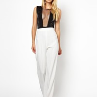 AQ AQ Laurent Pant With High Waist And Wide Leg