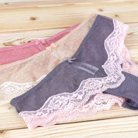 Lace Soft Sexy Permeable Ladies Panties = 5990145217