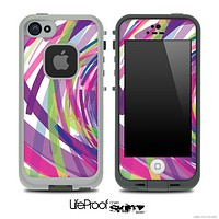 Abstract Color Brushes V1 Skin for the iPhone 5 or 4/4s LifeProof Case