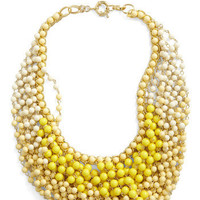 Statement of the Art Necklace in Sun | Mod Retro Vintage Necklaces | ModCloth.com