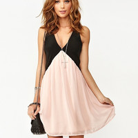 Color Block Chiffon Dress