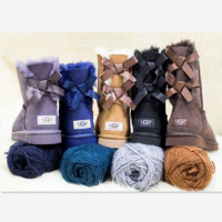 """""""UGG"""" Women male Fashion Wool Snow Boots side edge bowknot (4-color)"""