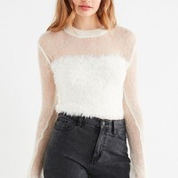 UO Rio Fuzzy Sheer Pullover Sweater | Urban Outfitters