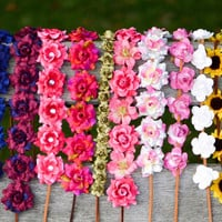 flower halos, flower crowns. flower headband, edc, ultra music festival, coachella, rave, flower child