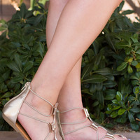Xenia Sandals - Gold
