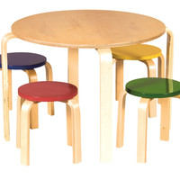 Guidecraft Nordic Table Set - Color - G81046