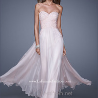 Strapless Sweetheart La Femme Formal Prom Gown 20535
