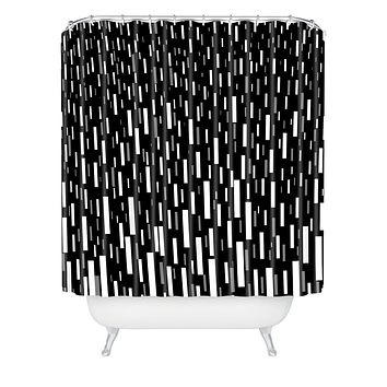 Lisa Argyropoulos Night Terrential Shower Curtain