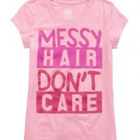 Messy Hair Graphic Tee   Girls Graphic Tees Clothes   Shop Justice