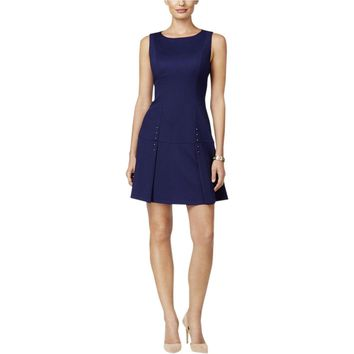 Ivanka Trump Womens Textured Studded Party Dress