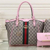 Gucci Women Fashion Leather Shoulder Bag Satchel Tote Handbag G