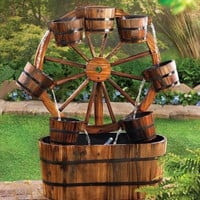 Wagon Wheel Water Fountain for Horse Lover
