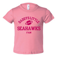 Daddys Little Seahawks Fan Toddler And Youth T-Shirt Seattle Fans Printed Tee for Kids Creepers & T-Shirts. Makes a Great Gift!!