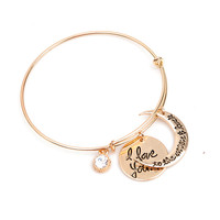Jewelry Stylish New Arrival Shiny Metal Hot Sale Accessory Simple Design Vintage Bangle [8573751565]