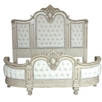 Victorian style master bed, in solid mahogany, bench made construction and Victorian styling.