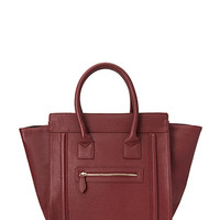 FOREVER 21 Zippered Faux Leather Satchel