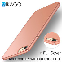 Solid Rose Golden Plastic Back Case Cover Shell For Apple iPhone 7