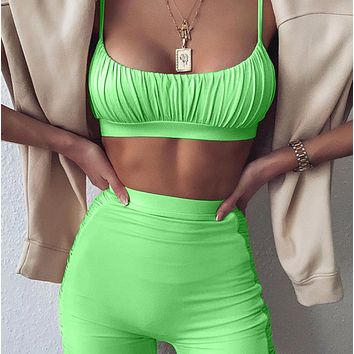 New women's hot sale sexy low-cut sling two-piece suit